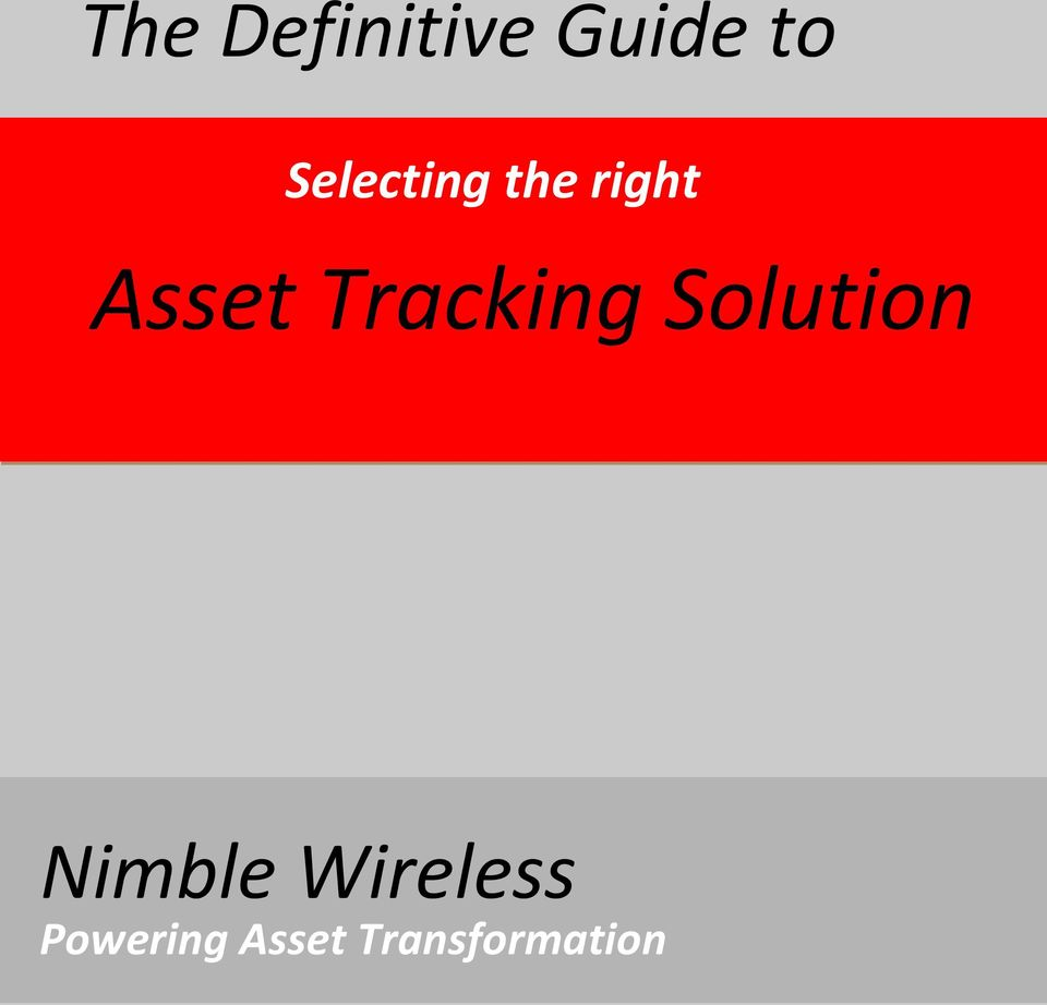 Tracking Solution Nimble