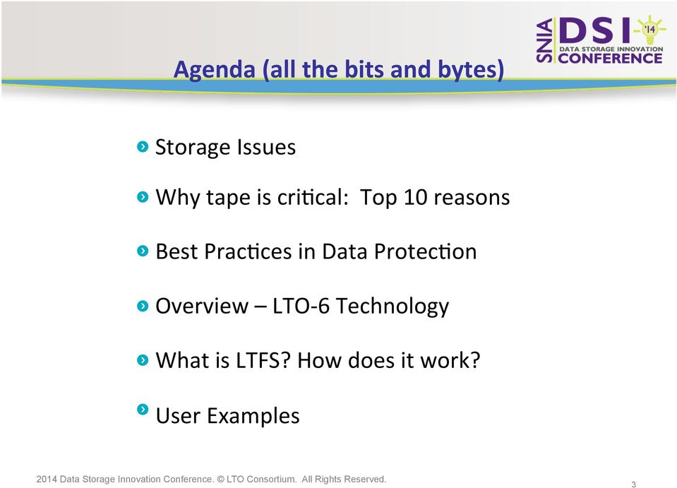 PracCces in Data ProtecCon Overview LTO- 6