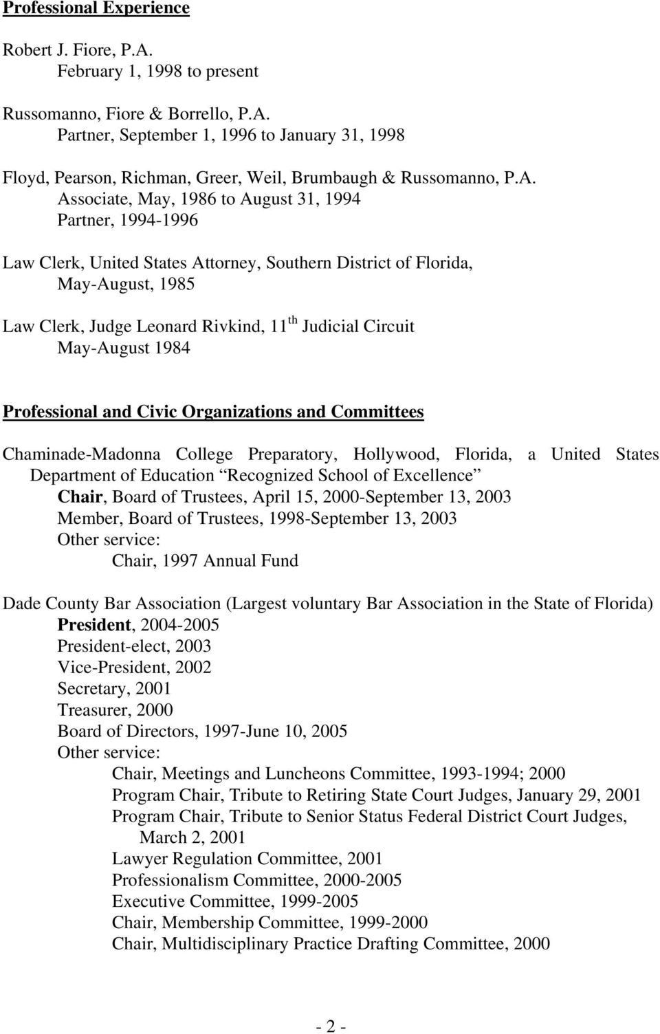 Circuit May-August 1984 Professional and Civic Organizations and Committees Chaminade-Madonna College Preparatory, Hollywood, Florida, a United States Department of Education Recognized School of