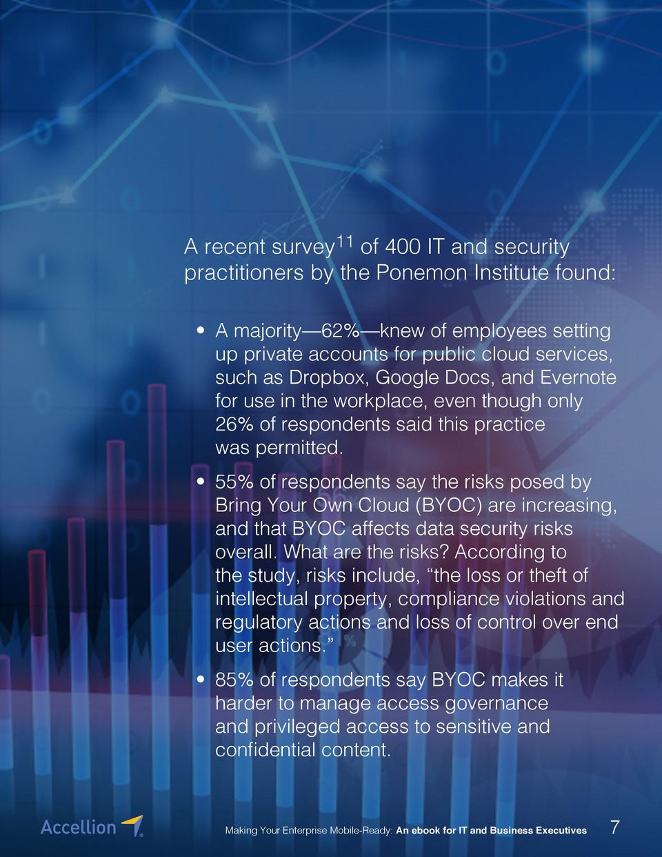 55% of respondents say the risks posed by Bring Your Own Cloud (BYOC) are increasing, and that BYOC affects data security risks overall. What are the risks?