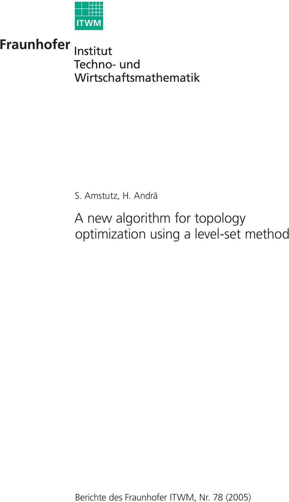 topology optimization using a