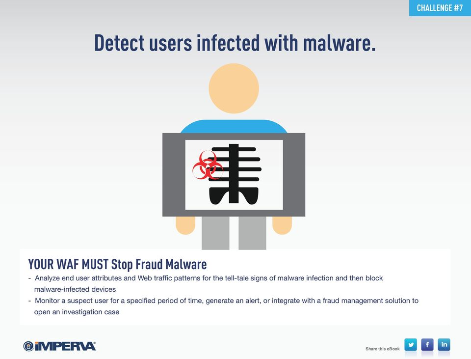 the tell-tale signs of malware infection and then block malware-infected devices - Monitor a