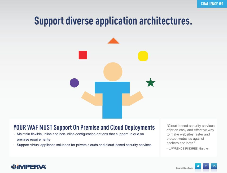 options that support unique on premise requirements - Support virtual appliance solutions for private clouds and