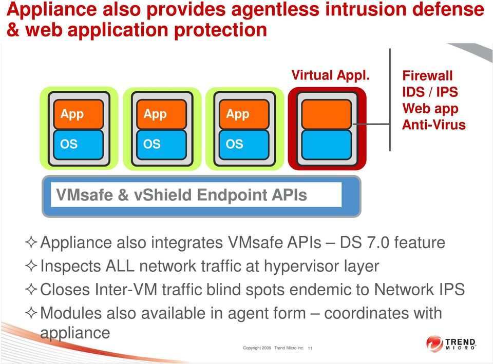 integrates VMsafe APIs DS 7.