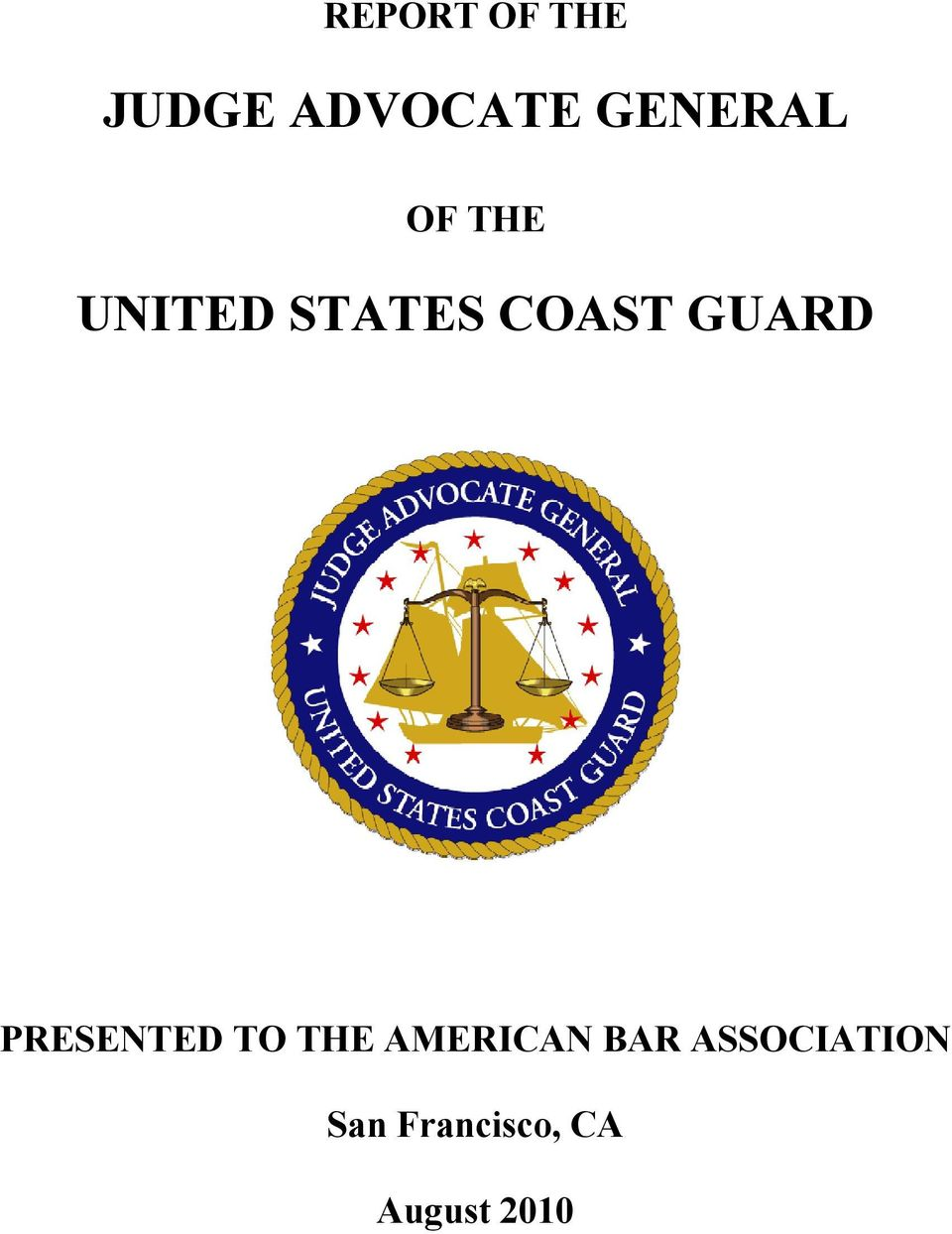 GUARD PRESENTED TO THE AMERICAN BAR