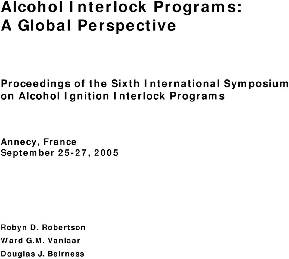 Alcohol Ignition Interlock Programs Annecy, France