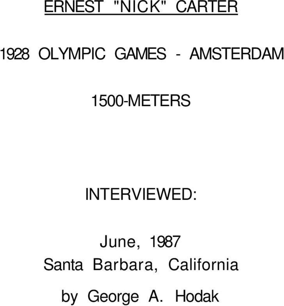 1500-METERS INTERVIEWED: June,