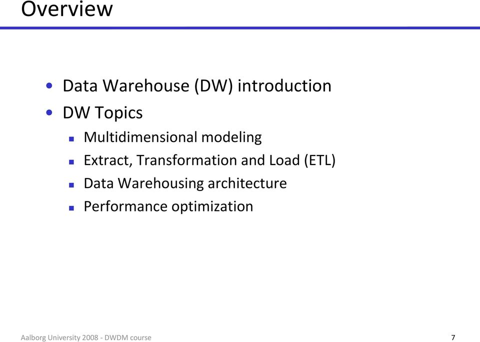 Extract, Transformation and Load (ETL) Data
