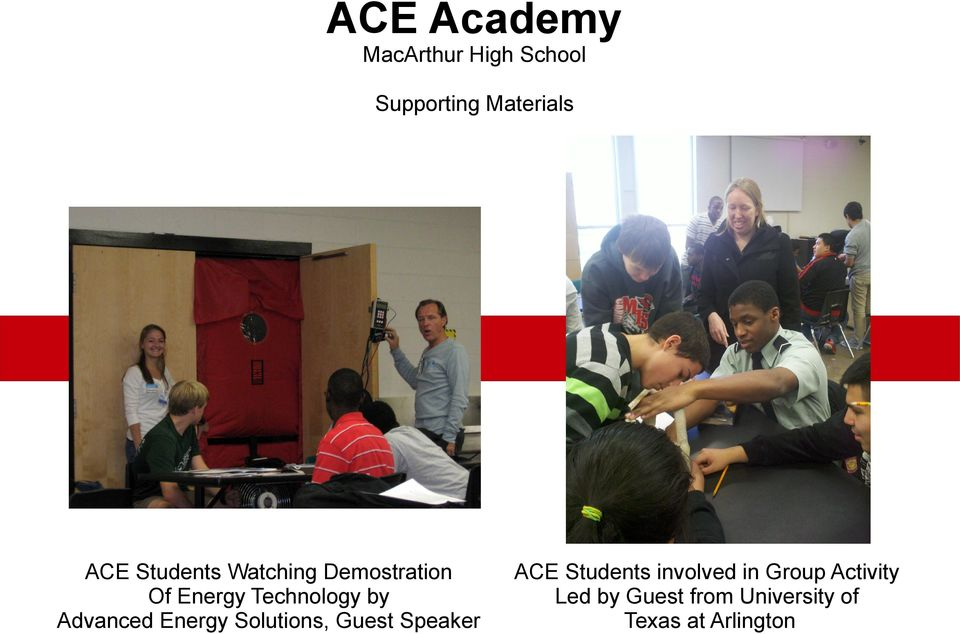 Advanced Energy Solutions, Guest Speaker ACE Students