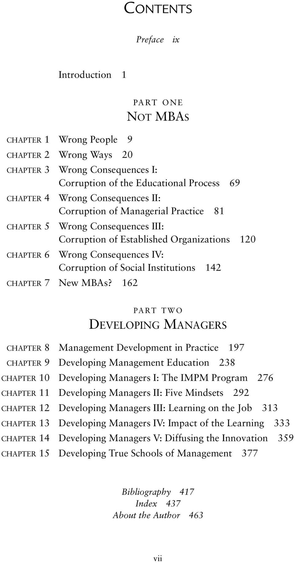 142 CHAPTER 7 New MBAs?