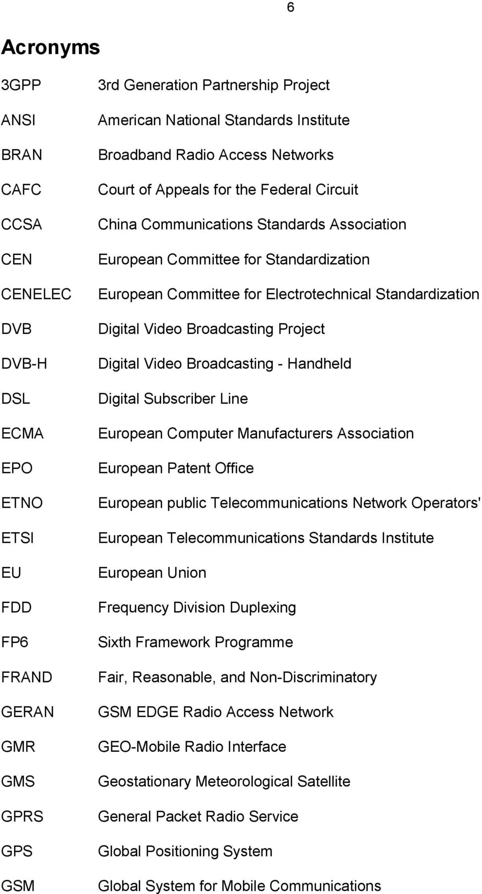 Standardization Digital Video Broadcasting Project Digital Video Broadcasting - Handheld Digital Subscriber Line European Computer Manufacturers Association European Patent Office European public