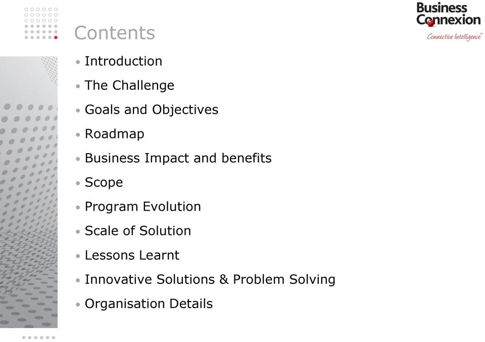 Scope Program Evolution Scale of Solution Lessons