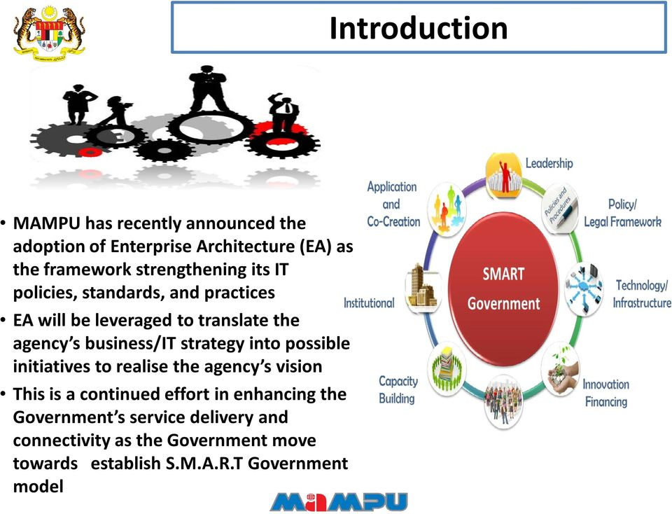 standards, and practices EA will be leveraged to translate the agency s business/it strategy into possible initiatives to realise the agency s