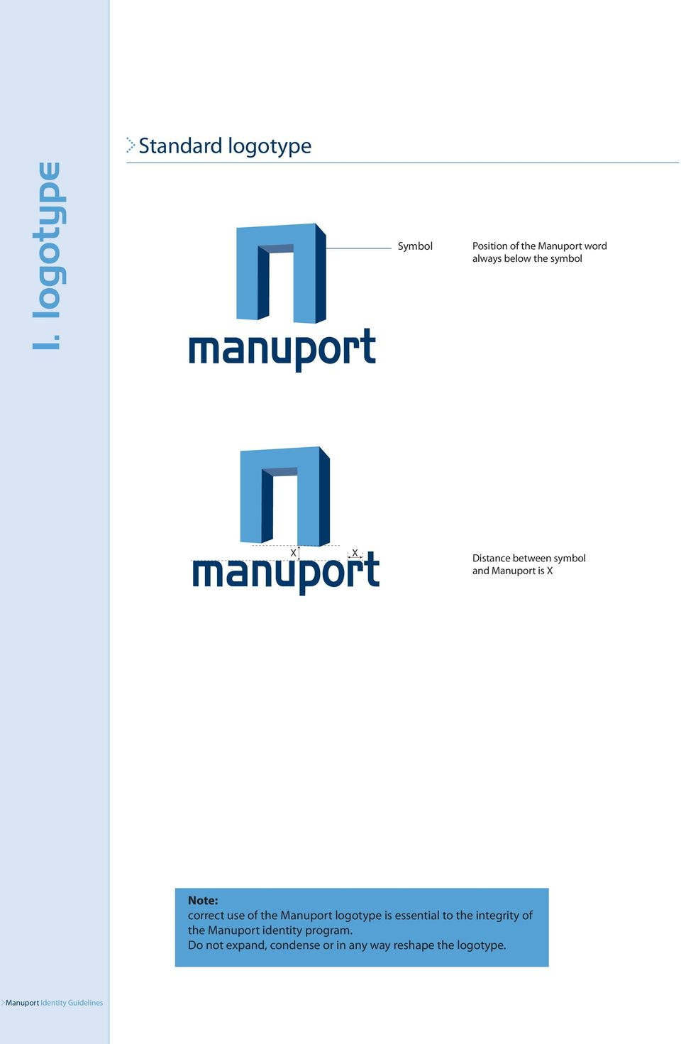 Distance between symbol and Manuport is X Note: correct use of the