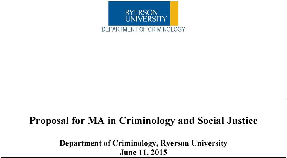 Criminology and Social