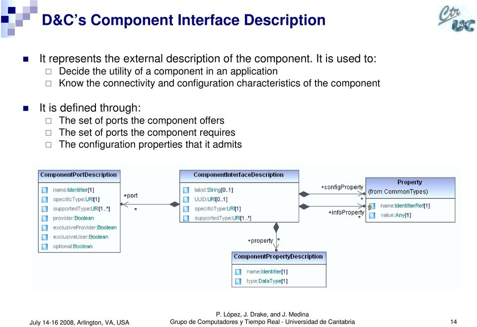 characteristics of the component!
