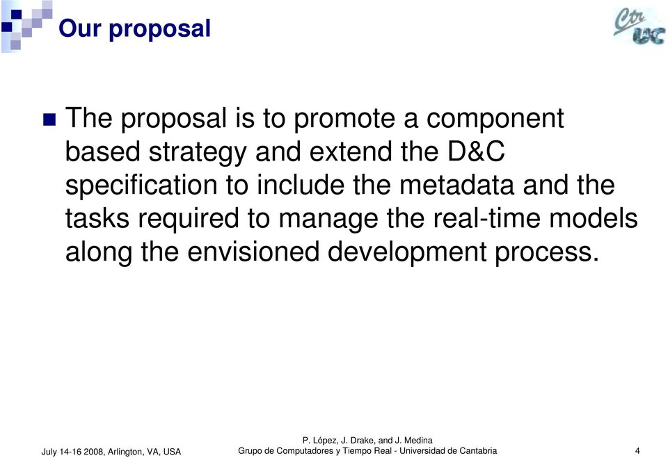 D&C specification to include the metadata and the tasks required to