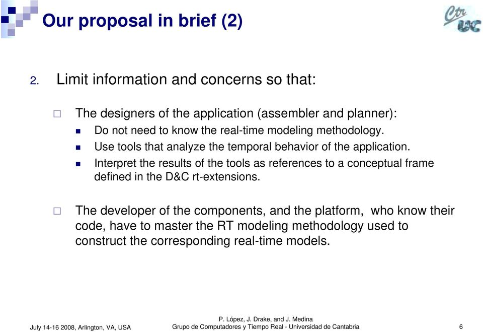 ! Interpret the results of the tools as references to a conceptual frame defined in the D&C rt-extensions.