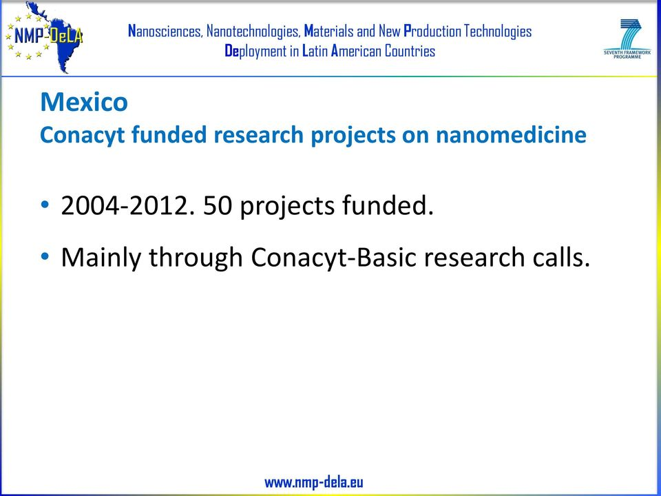 2004-2012. 50 projects funded.