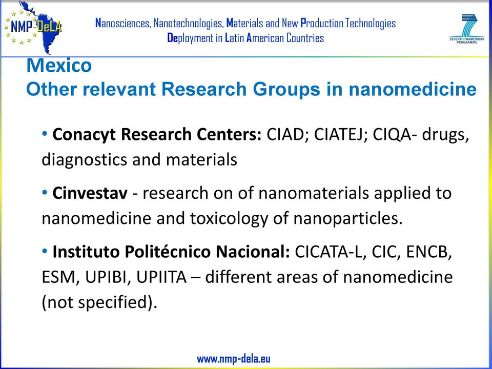 applied to nanomedicine and toxicology of nanoparticles.