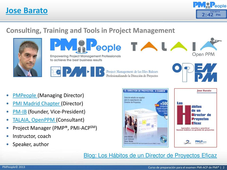 (Consultant) Project Manager (PMP, PMI-ACP SM ) Instructor, coach Speaker, author Blog: