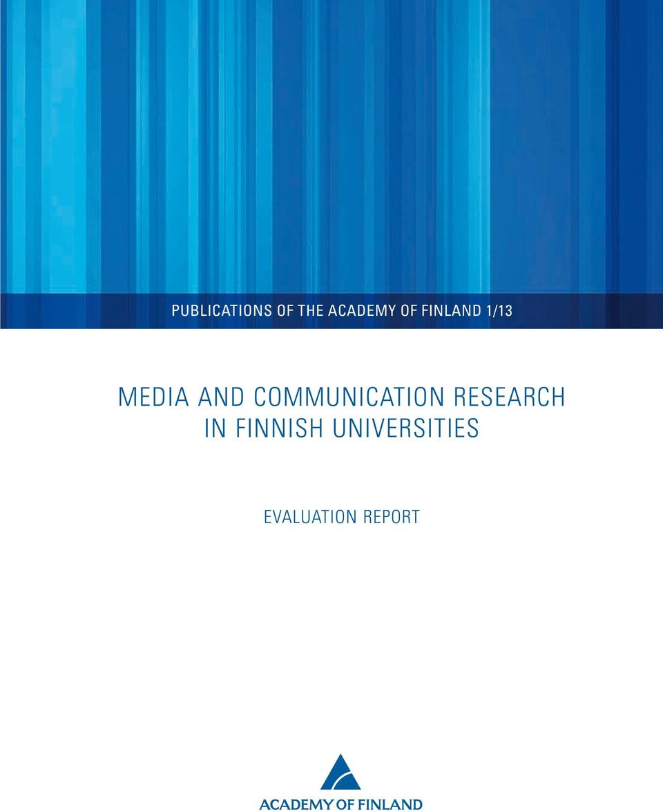 COMMUNICATION RESEARCH IN
