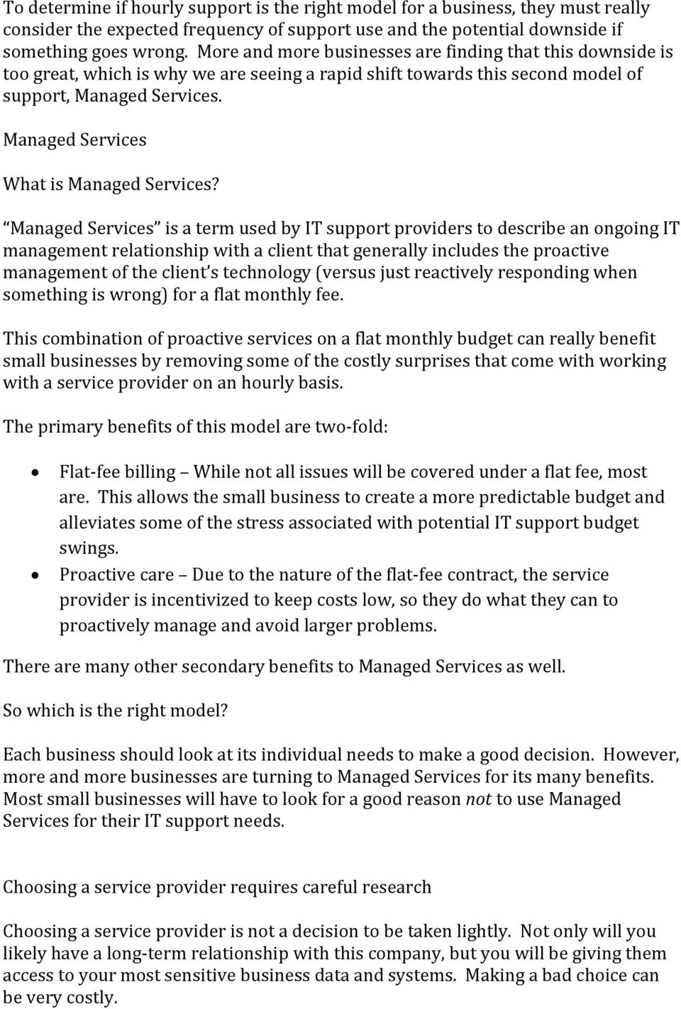 Managed Services What is Managed Services?