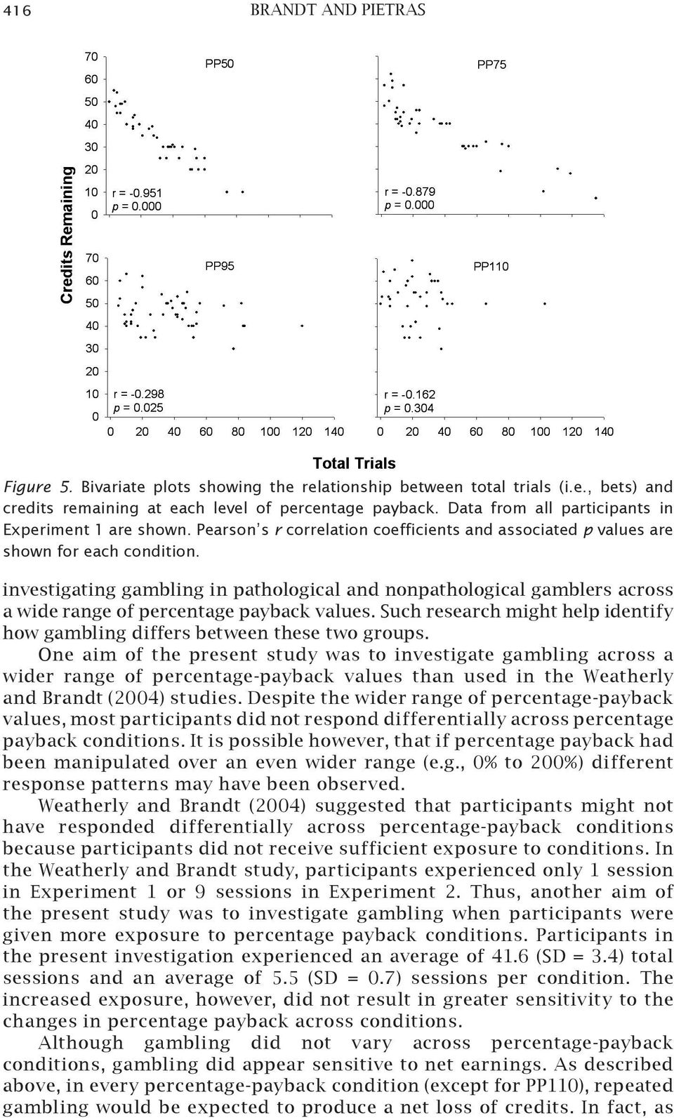 investigating gambling in pathological and nonpathological gamblers across a wide range of percentage payback values. Such research might help identify how gambling differs between these two groups.