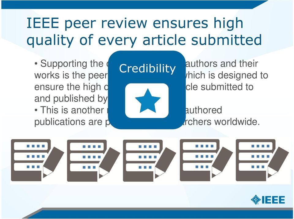 which is designed to ensure the high quality of every article submitted to and published