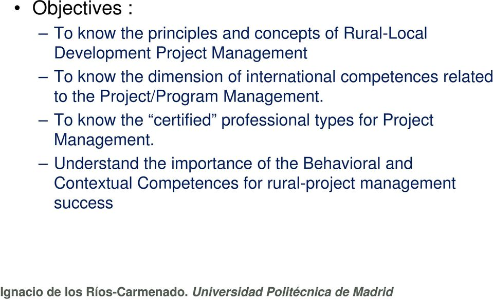 Project/Program Management.