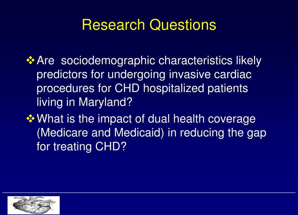 hospitalized patients living in Maryland?