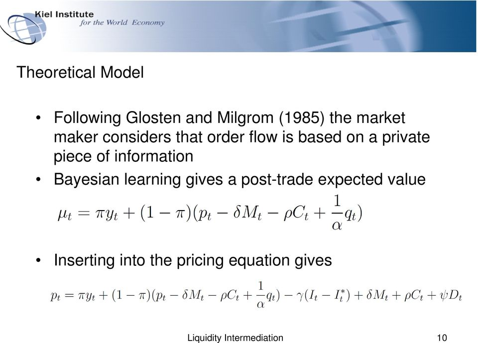 information Bayesian learning gives a post-trade expected value