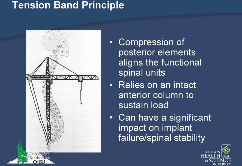 on an intact anterior column to sustain load Can