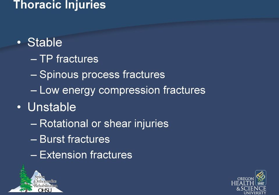 compression fractures Unstable Rotational
