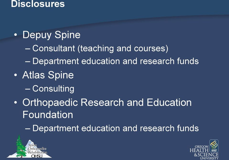 Atlas Spine Consulting Orthopaedic Research and