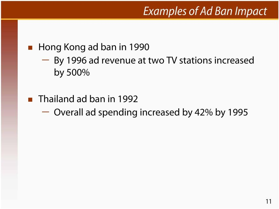 stations increased by 500% Thailand ad ban