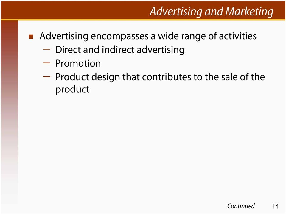 and indirect advertising Promotion Product