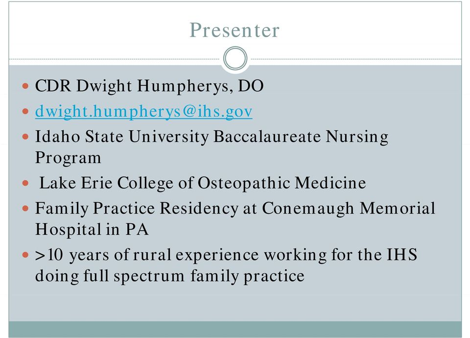 of Osteopathic Medicine Family Practice Residency at Conemaugh Memorial