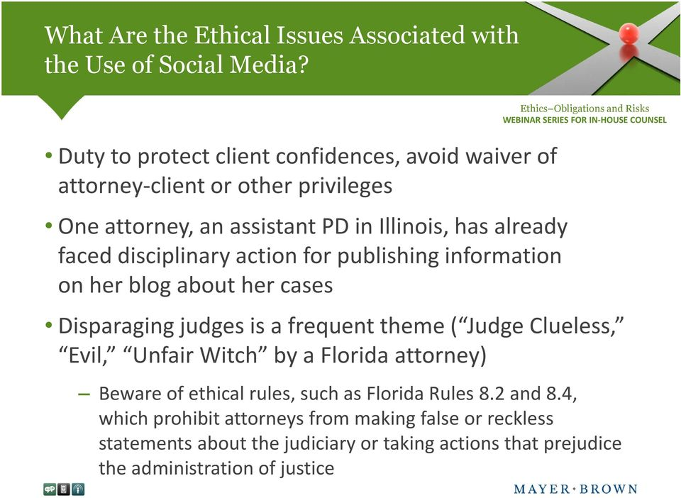 ( Judge Clueless, Evil, Unfair Witch by a Florida attorney) Beware of ethical rules, such as Florida Rules 8.2 and 8.