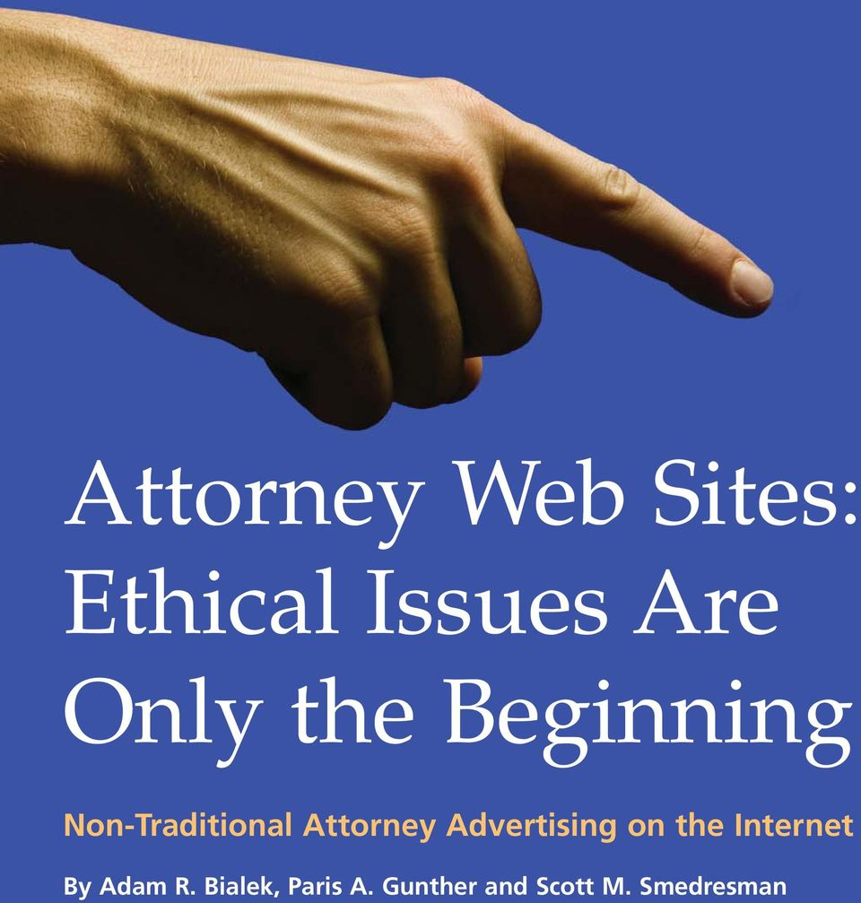 Attorney Advertising on the Internet By