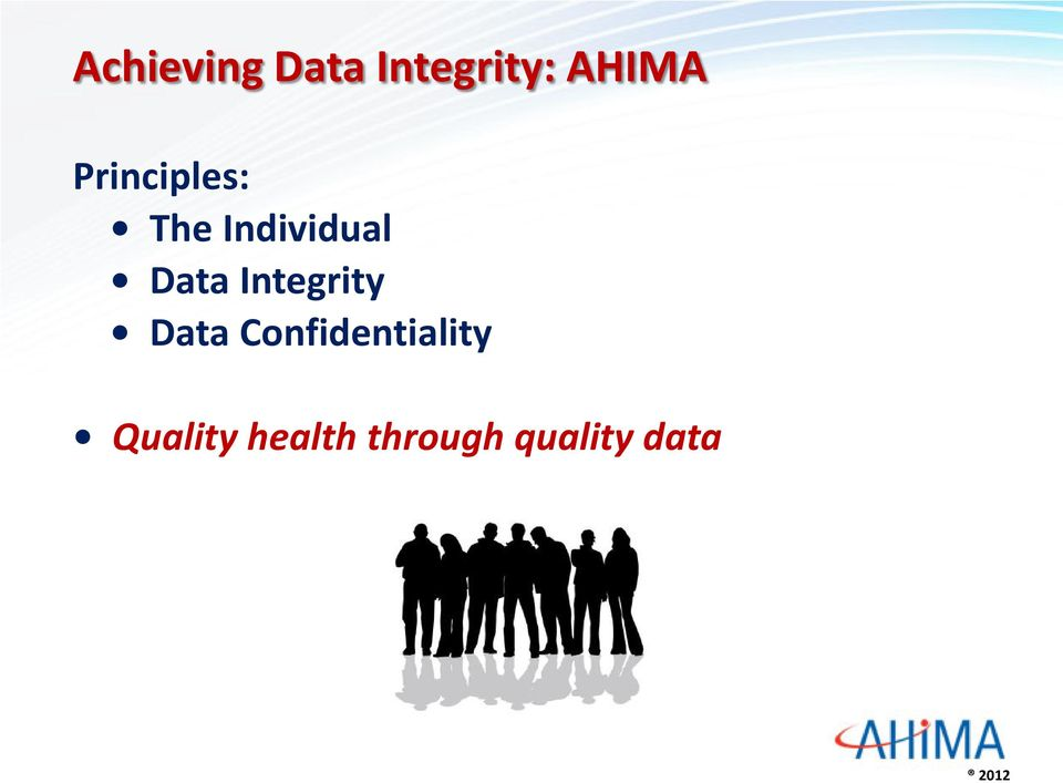 Integrity Data Confidentiality