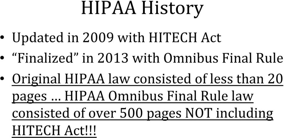 consisted of less than 20 pages HIPAA Omnibus Final