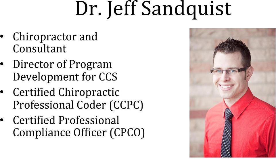 for CCS CertiGied Chiropractic Professional