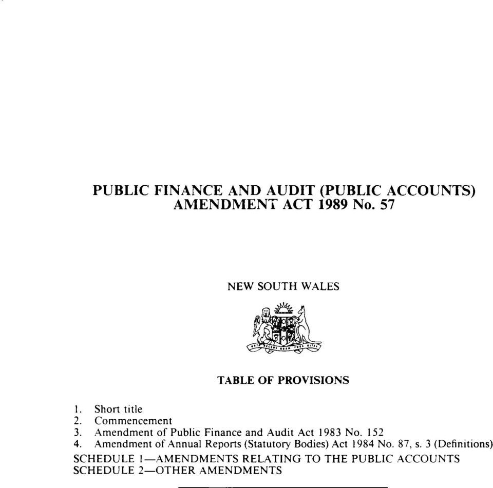 Amendment of Public Finance and Audit Act 1983 No. 152 4.