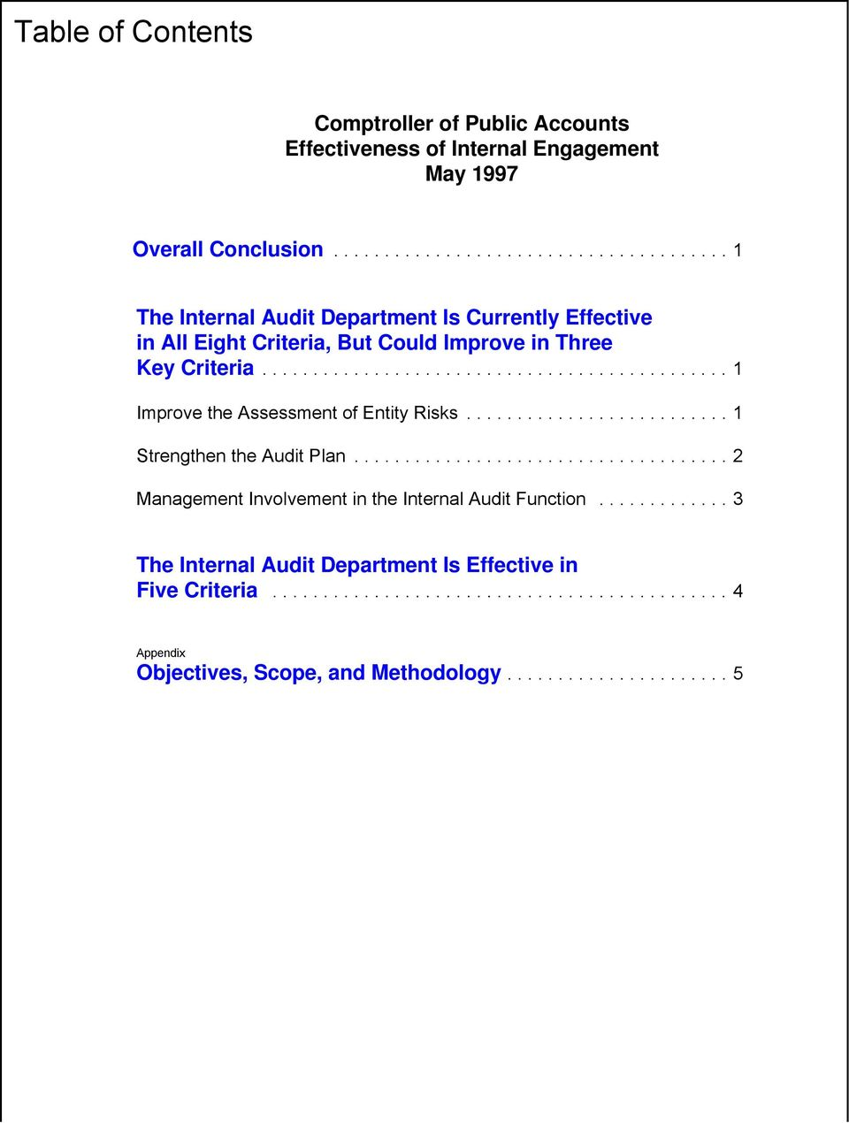 ..1 Improve the Assessment of Entity Risks...1 Strengthen the Audit Plan.