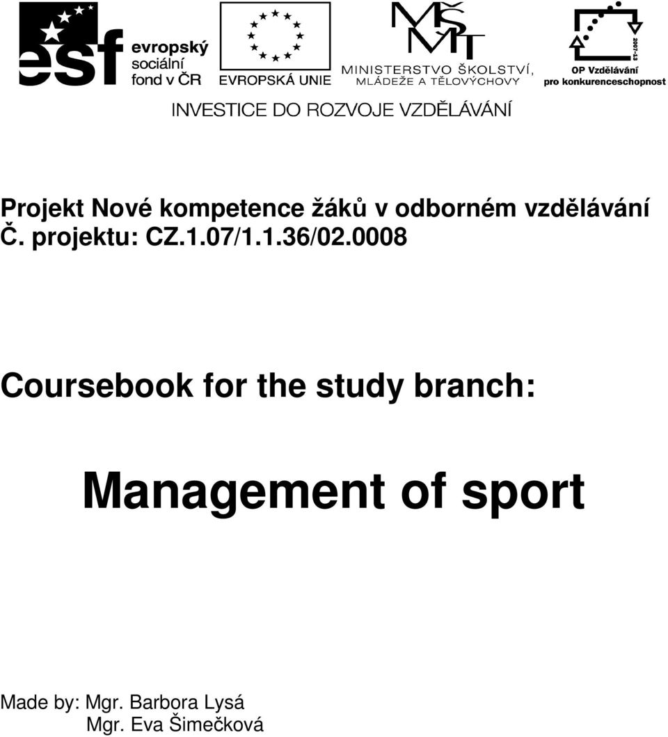 0008 Coursebook for the study branch: