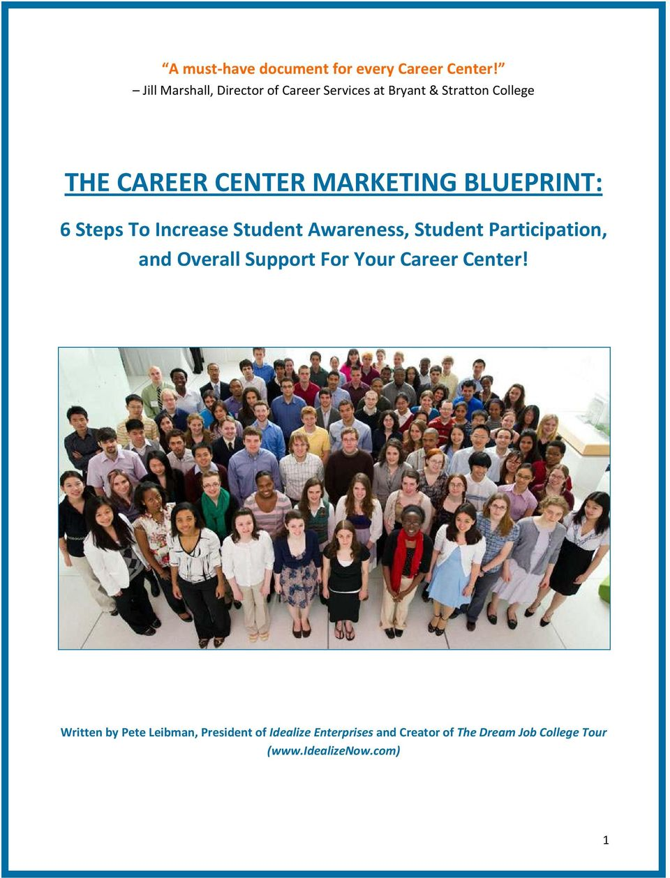 MARKETING BLUEPRINT: 6 Steps To Increase Student Awareness, Student Participation, and Overall