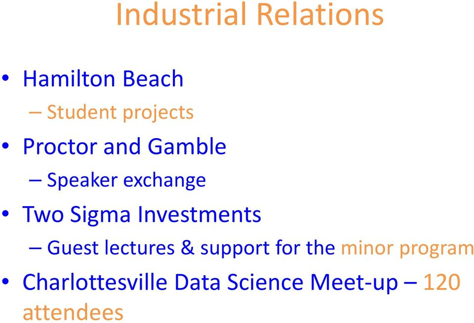 Sigma Investments Guest lectures & support for the