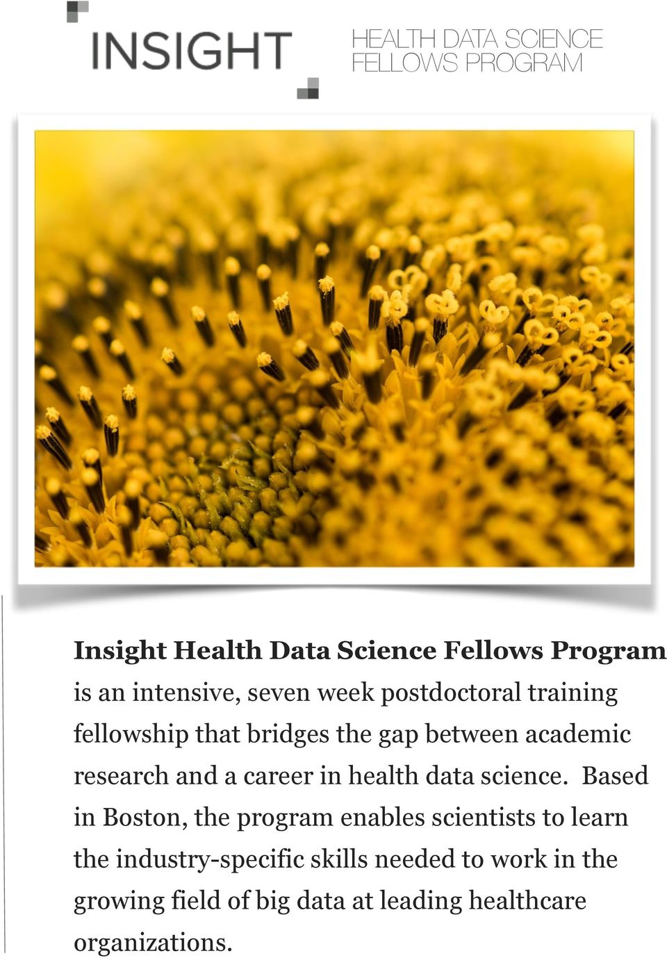 career in health data science.