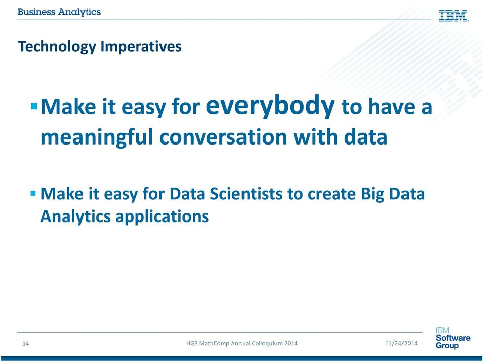 conversation with data Make it easy for